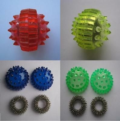 Massage Ball and 2 Rings Su Jok Therapy Tools Convenient and Effective