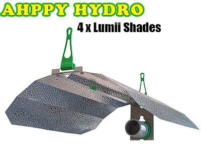 Lumii Shade Euro Lamp Reflector - Box Of 4 - Hydroponics - Lighting