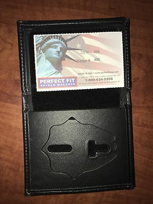 Fire Department Firefighter Perfect Fit Badge Wallet Style 104 Cut 496