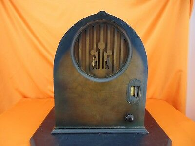 Vintage 1931 ECHOPHONE S-4 Cathedral Wood Cabinet TUBE RADIO