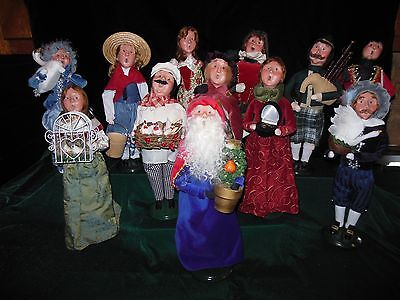 Byers Choice Carolers:  12 Days of Christmas Complete Set w/ Victorian House Bo