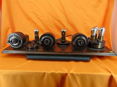 Vintage 1923 ATWATER KENT 4550 10A Breadboard 3 Dial 5-TUBE RADIO