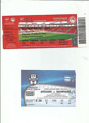 Football Tickets 19 Pieces Lot Mainly Greek Games(+Cyprus,bulgarian++++)