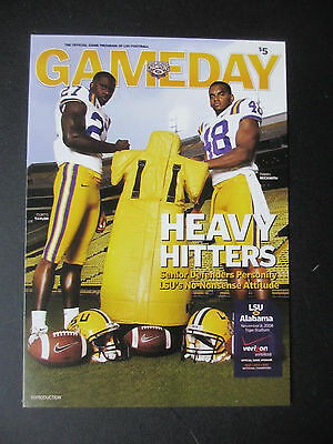 2008 Alabama vs LSU Football Program Postcard Official Reproduction