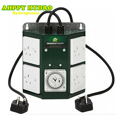 Green Power 4 Way Professional Contactor Relay Timer For Grow Light Hydroponics
