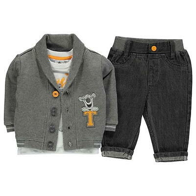 Disney Baby Boy Official Tigger Cardigan Jacket T Shirt Jeans Outfit Set