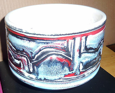 Vintage large abstract Poole Pottery vase signed #92 England