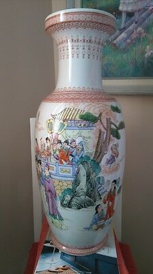 Large Chinese Hand Painted Porcelain Vase 60cm tall