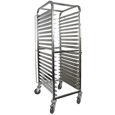 Vollum Knock Down Bakery Rack All Stainless, for Full Size Sheet Pans 15 trays