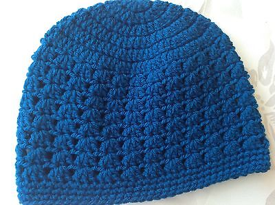 Dark blue CHILDRENS CROCHET BEANIE 3 - 5 yrs -  Made in WA