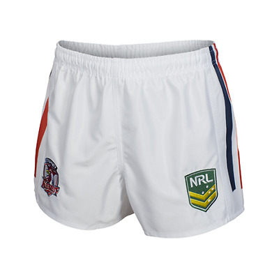 Sydney Roosters Nrl Classic Sportswear White Kids Youth Supporter Shorts