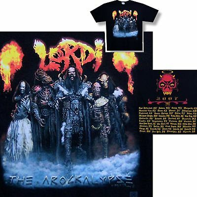 Lordi! Arockalypse 2007 Tour/fire Logo T-Shirt Med New