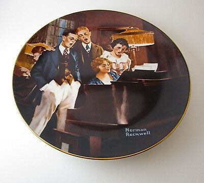Norman Rockwell Close Harmony Knowles Limited Edition Numbered 8 1/2 Inch Plate