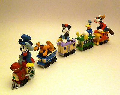 Hallmark Mickey Mouse Express - 5 Disney Train Cake Toppers Minnie Donald Goofy