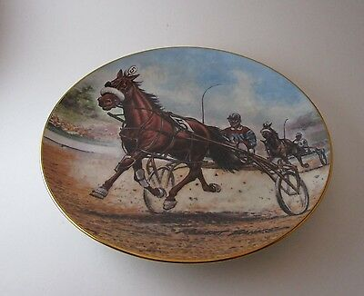 The Pacer  Robert J. Banks Standardbred 8 1/2 Inch Numbered Collector's Plate