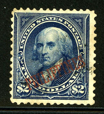 Philippines 224 Used $2.00 Madison US Overprinted $325.00 7A28 9X
