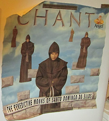 Chant Benedictine Monks Poster 1994 Record Store Promo Collectable Display