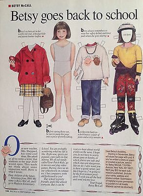 Vintage Betsy McCall Mag. Paper Doll, Betsy Goes Back to School, Sept. 1995