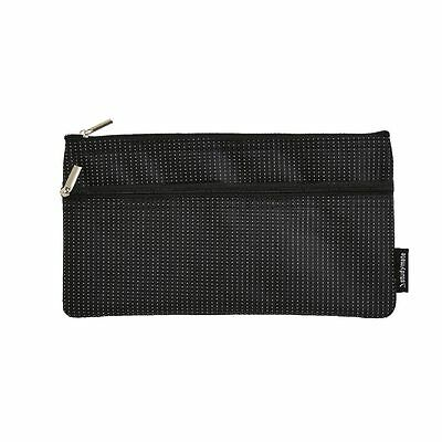 Studymate 2 Zipper Pencil Case Black with White Dots