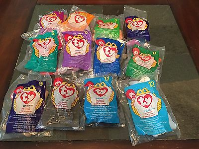 McDonald's 1998 Ty Teenie Beanie Babies - Set of 12