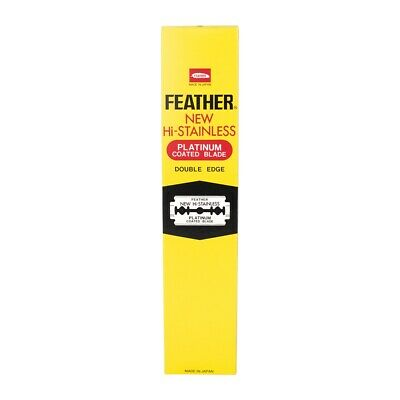 Feather New Hi-Stainless Double Edge Blades for DE Safety Razor (200 Blades)