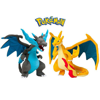 "9.5"" Pokemon Mega Charizard Rare Pocket Monster Plush SoftDoll Stuffed Lizardon"