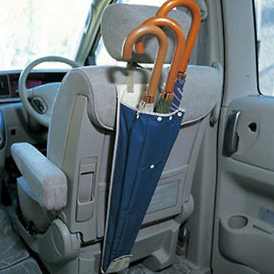 1Pc Auto Car Back Seat Wet Rain Blue Umbrella Foldable Holder Sheath Storage Bag