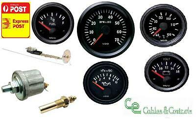 VDO COCKPIT VISION GAUGE KIT, 85mm TACHO, OIL, TEMP, VOLT, FUEL + ALL SENDERS