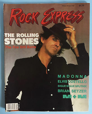 Rock Express May 1986 Elvis Keith Richards Elvis Costello Madonna