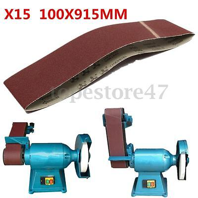 5/10 Pack 100 x 915mm Sanding Belts 80 Grit Power Hand Sander Tool Accessories