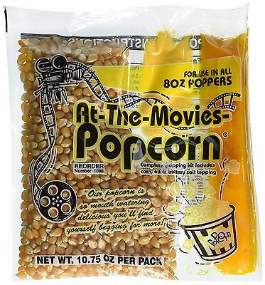At-The-Movies Popcorn & Coconut Oil Portion Packs-Case of 24 8oz Kettle