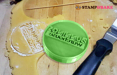 Custom Logo Cookie Stamp, Upload Your Own Logo, 60Mm. Cookie Cutters. Weddings