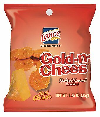 Lance Gold-N-Cheese Baked Snack Crackers, 1.25 Ounce Pack of 60