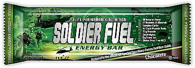 Soldier Fuel Energy Bars, Real Chocolate, 2.29 Ounce Pack of 15