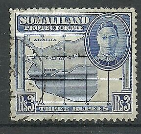 Somaliland Prot. - GVI second 3rs definitive - SG115 - VFU