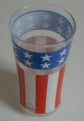 Arby's Glass ~~ USA flag, Uncle Sam's Hat = AMERICA theme ~~ - Promotional GLASS