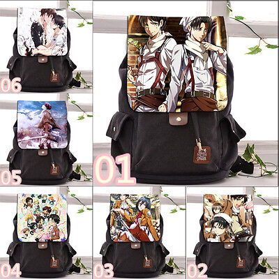 Anime Attack on Titan Casual Backpack Men Shoulders Bag Cosplay Canvas 41*28*17
