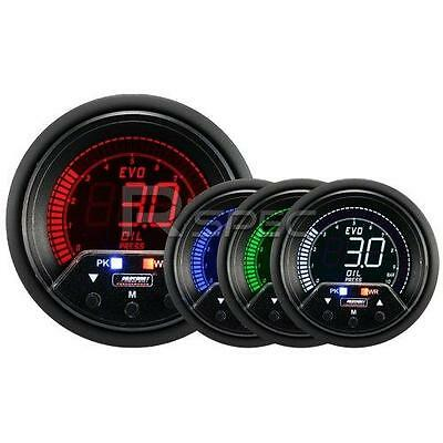 Prosport Evo 60mm LCD Oil Pressure Bar Gauge 4 colour with peak and warning