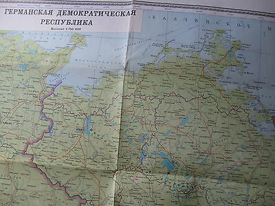 Unique! Last Copy East Germany GDR  DDR Topographica Map 1:750 000
