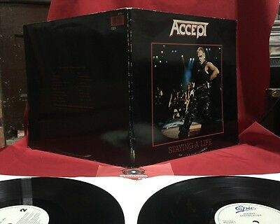 Accept - Staying A Life - Vinyl, 2 Lp, Gat, 1990 - 1st press EU - Excellent