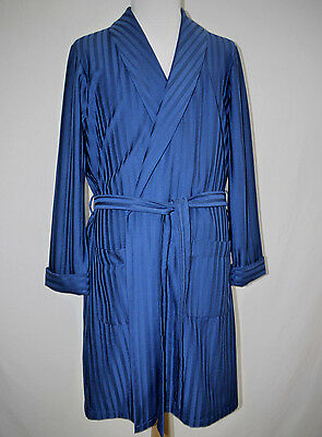 FAB 70's VINTAGE ST MICHAEL POLYESTER KNIT DRESSING GOWN ROBE SMOKING JACKET M