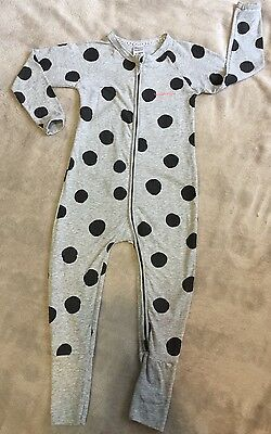 BONDS zippy Wondersuit Size 2 Grey Black Spots GUC . Combined Post