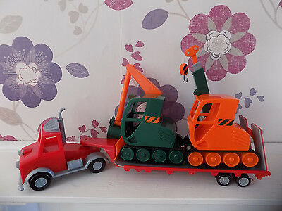 Bob the Builder Long Packer Lorry with Grabber and Gripper Vehicle Bundle