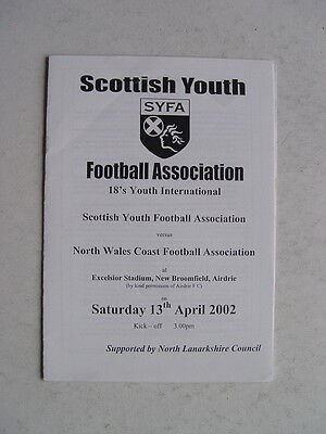 Scottish Youth FA v North Wales Coast FA 2002 Under 18's at Airdrie
