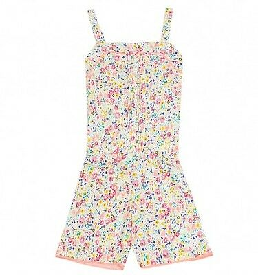 Baby & Girls NEW ex M&S Pintuck Floral Playsuit - Ages 1-8y Summer All in one