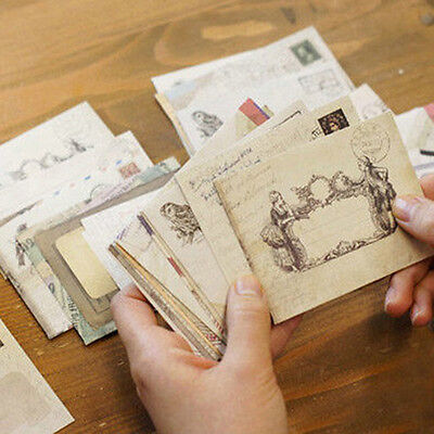 12pc Mini Vintage Office Kid Holiday Stationery Paper Ancient Envelope Hot Sell