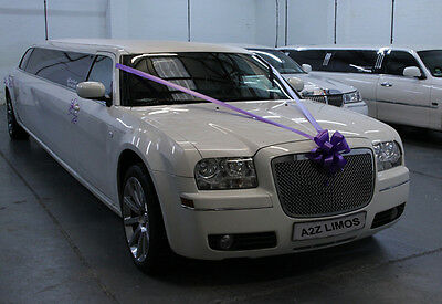 Wedding car hire White Stretch Baby Bentley Limo Upto 8 Passengers