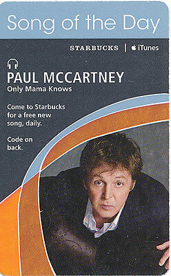 Paul McCartney Only Mama Knows RARE song of the day Starbucks download card '07