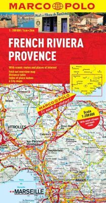 French Riviera, Provence Marco Polo Map by Marco Polo 9783829767514