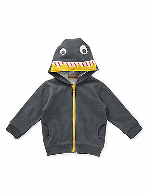 Baby Boys NEW Ex store M&S Robot Zip Sweatshirt Hoody Top 9-12 12-18 18-24m